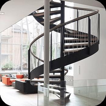 Лестница из металла