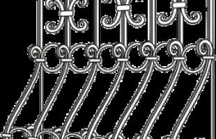 Изготовление и установка кованых решеток на окна