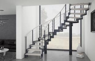 Винтовые лестницы на металлокаркасе