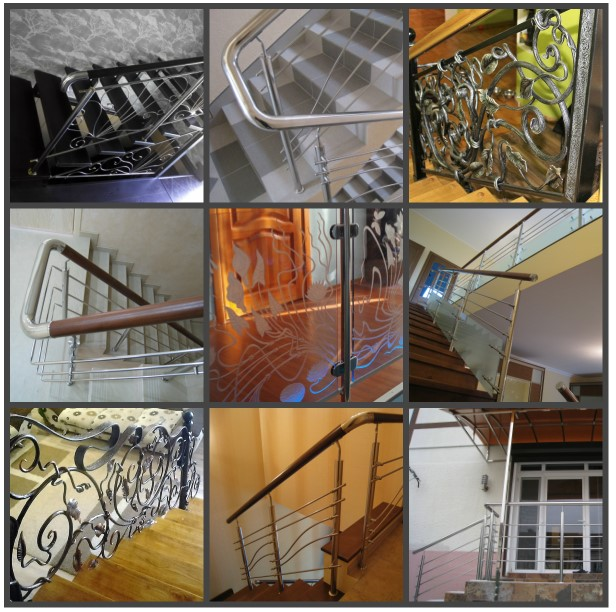 Лестницы выполненные из комбинированных материалов