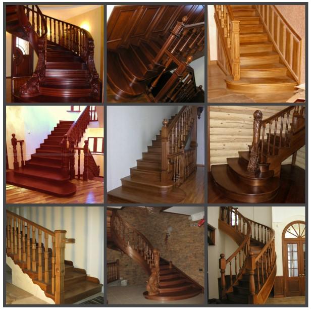 Красивые дубовые лестницы для дома