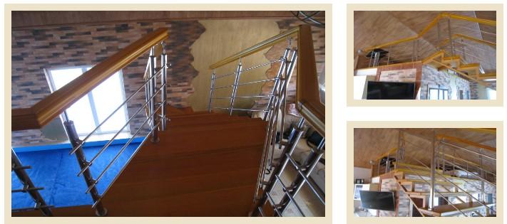 Металлическая лестница из нержавеющей стали